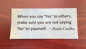 Say no to others say yes to yourself