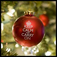 keep calm ornament christmas