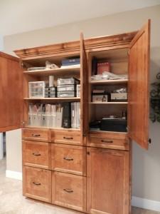 Scrapbooking Cabinet