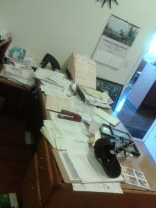 Office Desk Before