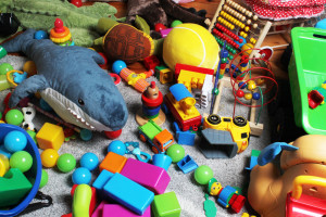 Toy mess in child's room