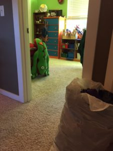 Organized kids' room
