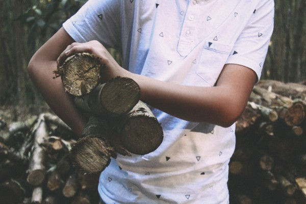 boy with firewood